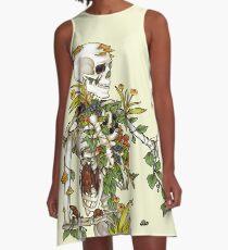 Knochen und Botanik A-Linien Kleid