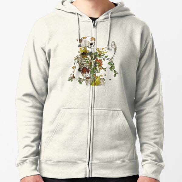 Bones and Botany Zipped Hoodie