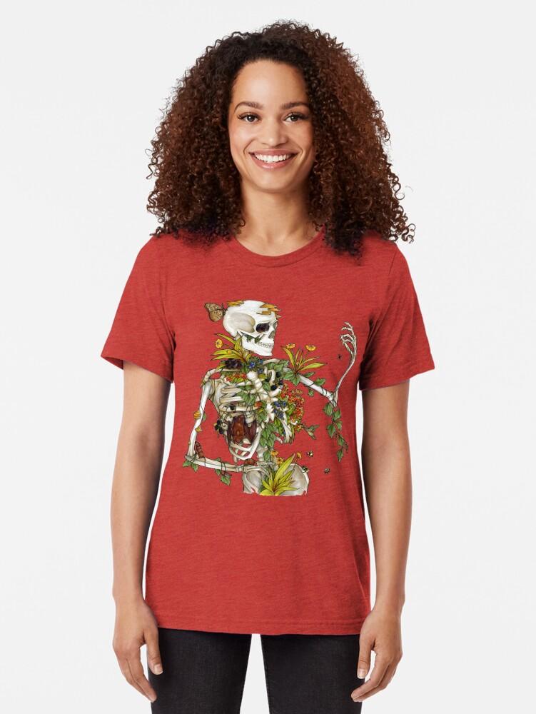 Alternative Ansicht von Knochen und Botanik Vintage T-Shirt