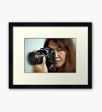 Canon EOS 40D and Model Framed Print