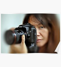 Canon EOS 40D and Model Poster