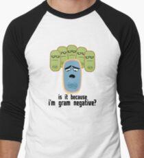 Camiseta ¾ bicolor para hombre ¿Es porque soy Gram negativo?