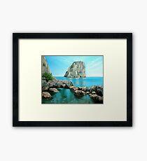 Faraglioni - Capri, Italy Framed Print