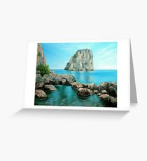 Faraglioni - Capri, Italy Greeting Card