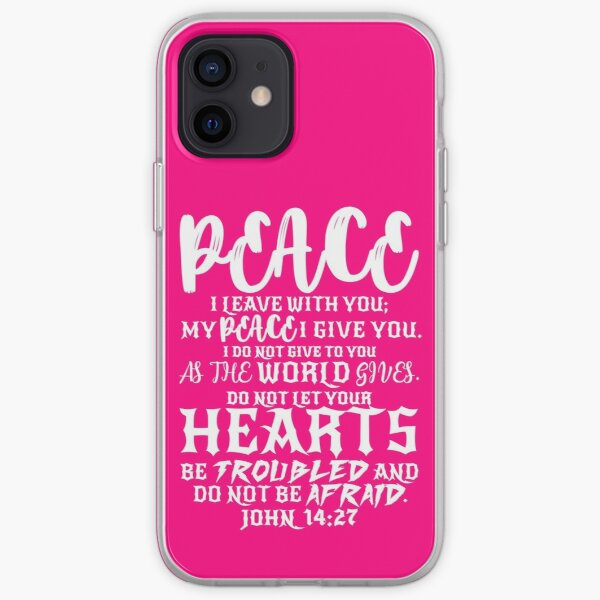 John 14:27 Phone Case Peace I Give To You Bible Verse iPhone Case Gold Glitter Google  Nfs