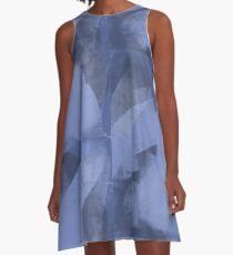 Abstract in Blueviolet A-Line Dress