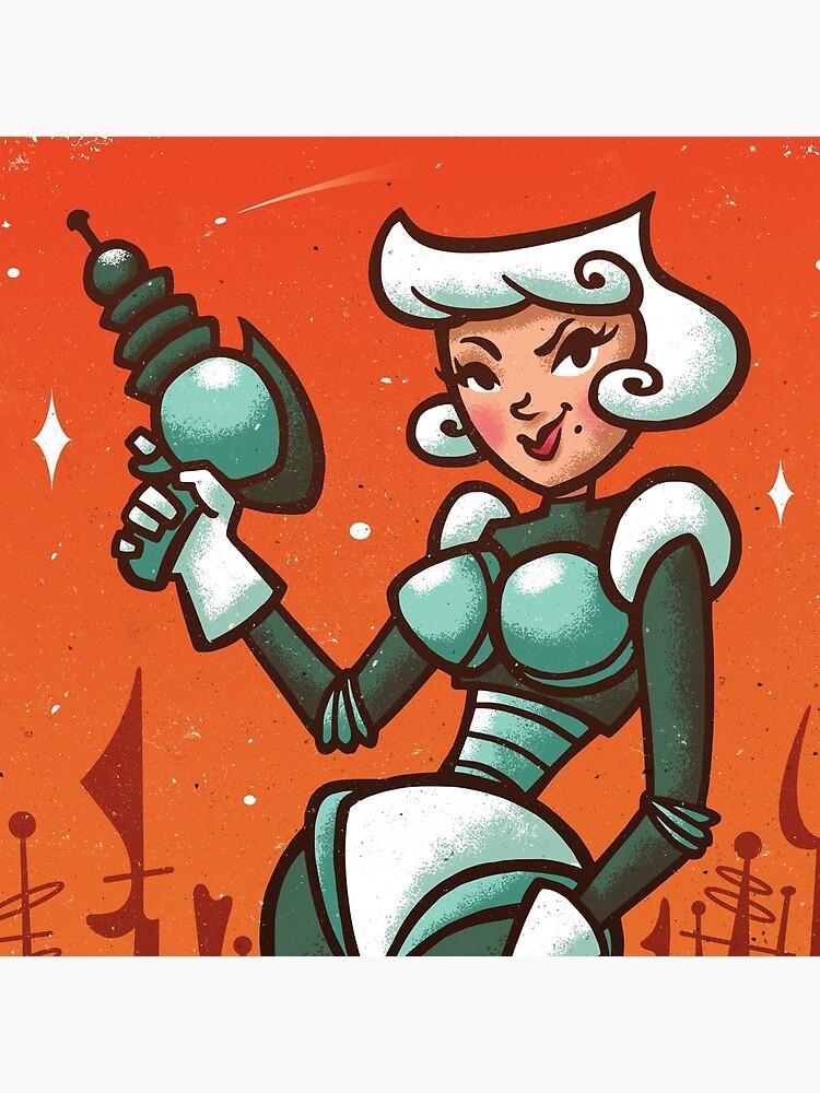 Retro Robo Girl by artbycarolina