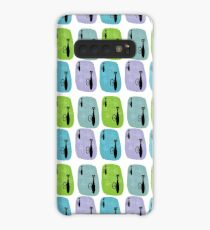 Mid Century Inspired Cat Art Print V1 Case/Skin for Samsung Galaxy