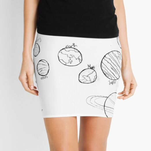#Astronomy, #lineart, #text, #chalkout, scribble, vector, sketch, illustration, pencil, design, collection Mini Skirt