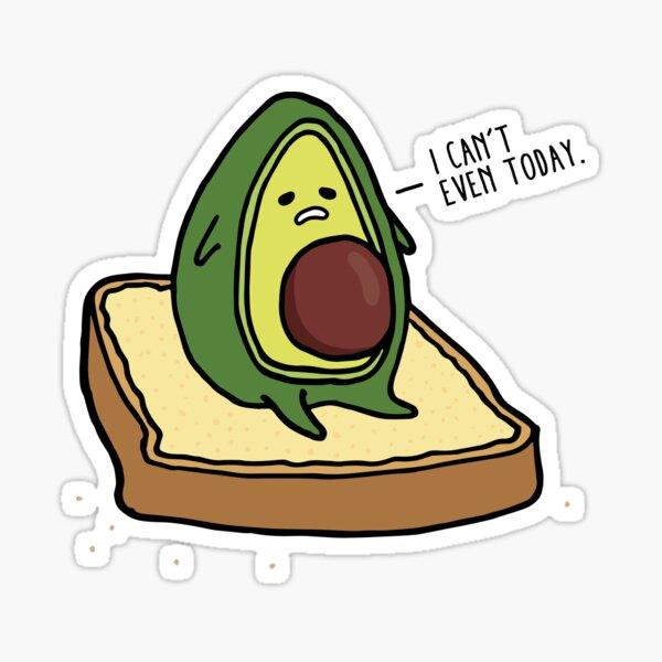 Avi the Avocado - I Can't Even Sticker