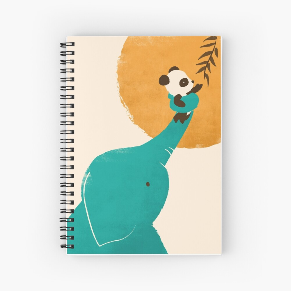 Panda's Little Helper Spiral Notebook