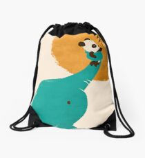 Panda's Little Helper Drawstring Bag