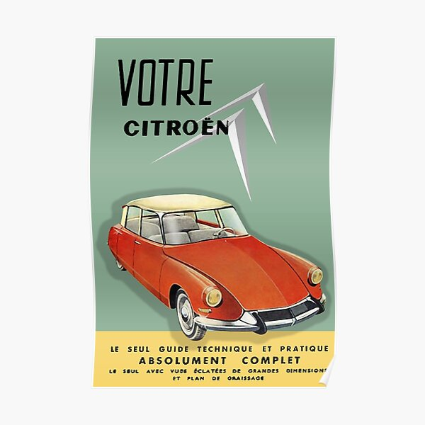 Citroen DS / ID Poster
