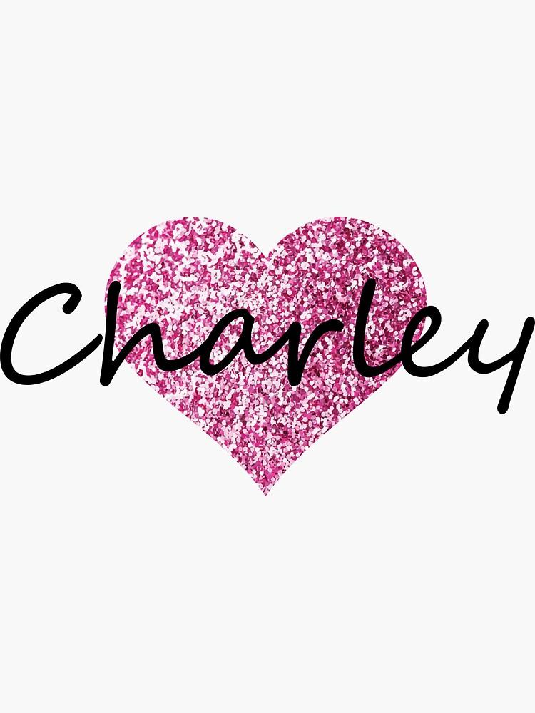 Corazón rosado de charley de Obercostyle