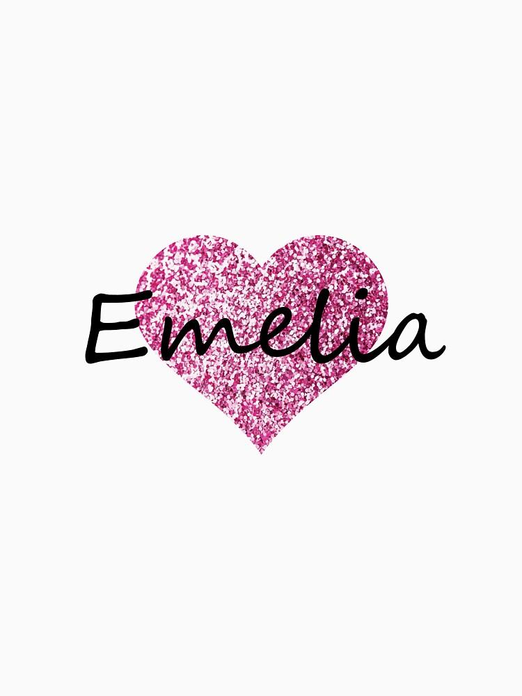 Corazón rosa emelia de Obercostyle