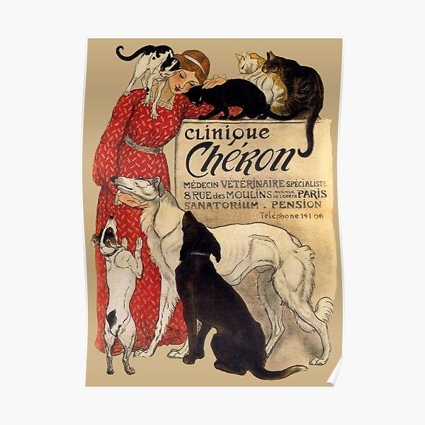 Clinique Cheron Vintage Borzoi Art Poster