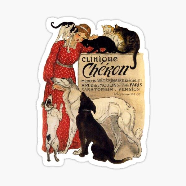 Clinique Cheron Vintage Borzoi Art Sticker