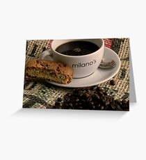 Cup of hot black. Greeting Card