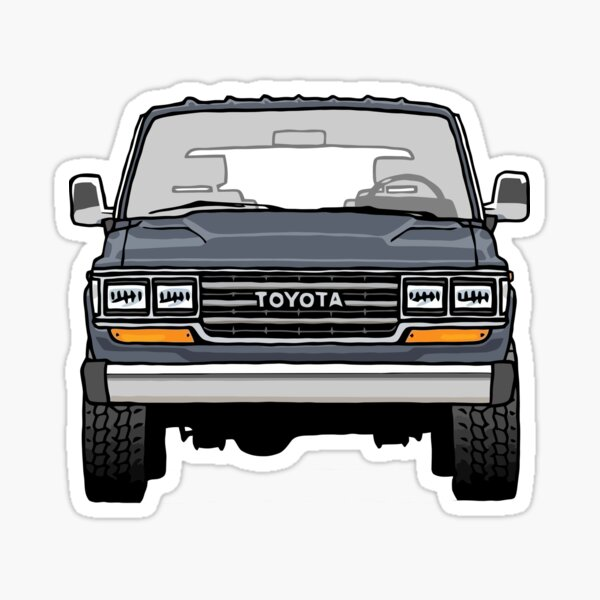 Toyota Land Cruiser FJ60 Pegatina