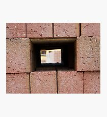 Through the brick wall Photographic Print