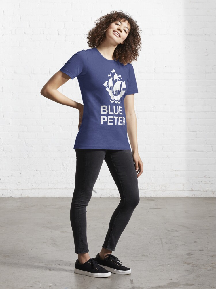 Alternate view of NDVH Blue Peter text 3 Essential T-Shirt