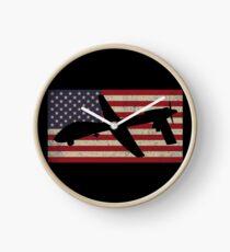 MQ-1C grau Eagle Combat UAV Drohne USA Flagge patriotische Flaggen Geschenk Uhr