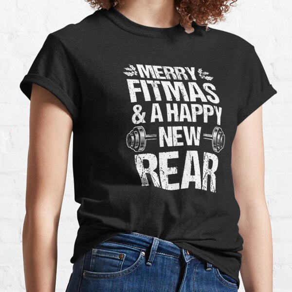 Merry Fitmas Xmas Christmas New Rear Fitness Holiday Gift Classic T-Shirt