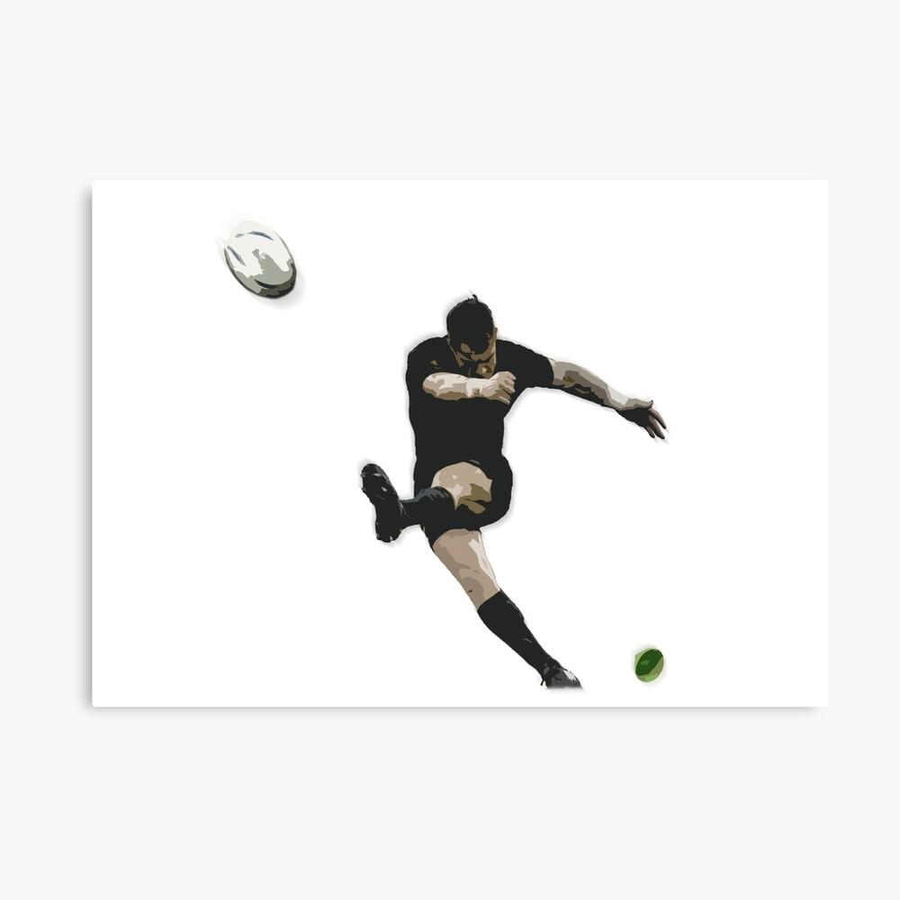 Rugby-Ziel-Tritt-Illustration Leinwanddruck