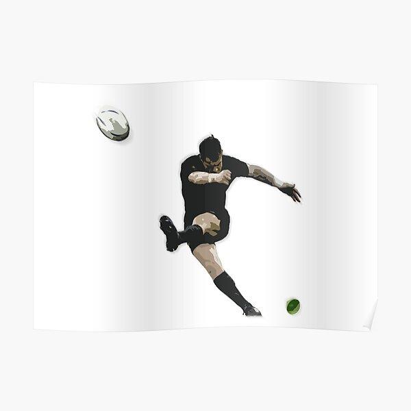 Illustration de coup de pied de but de rugby Poster