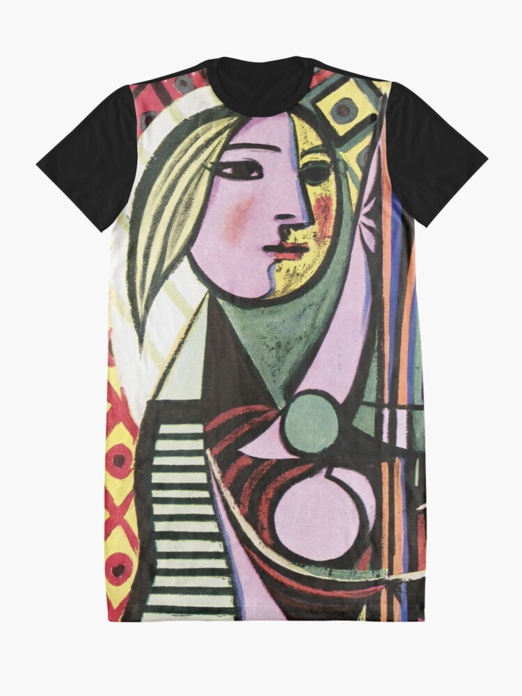 Alternate view of Pablo Picasso Girl before a Mirror 1932 Artwork Reproduction, Tshirts, Prints, Poster, Bags, Men, Women, Kids Graphic T-Shirt Dress