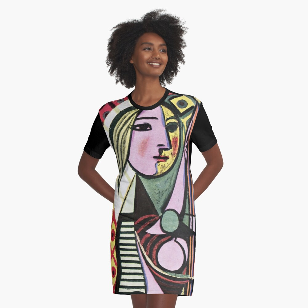 Pablo Picasso Girl before a Mirror 1932 Artwork Reproduction, Tshirts, Prints, Poster, Bags, Men, Women, Kids Graphic T-Shirt Dress