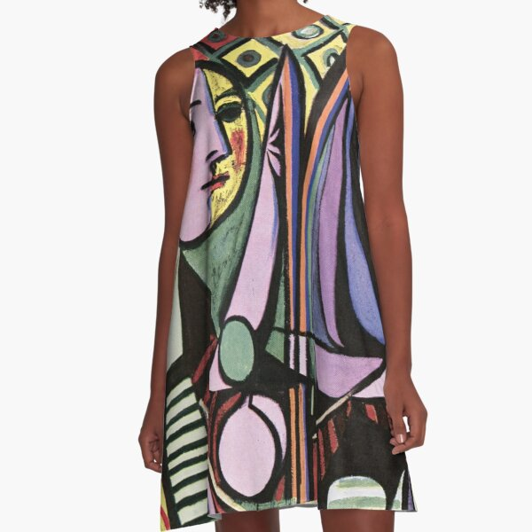 Pablo Picasso Girl before a Mirror 1932 Artwork Reproduction, Tshirts, Prints, Poster, Bags, Men, Women, Kids A-Line Dress