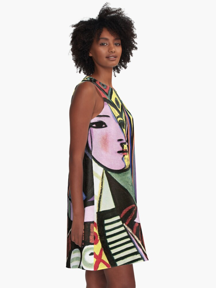 Alternate view of Pablo Picasso Girl before a Mirror 1932 Artwork Reproduction, Tshirts, Prints, Poster, Bags, Men, Women, Kids A-Line Dress