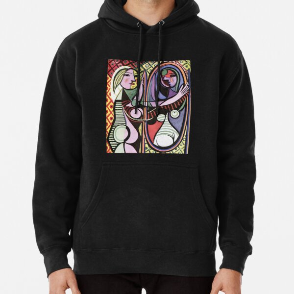 Pablo Picasso Girl before a Mirror 1932 Artwork Reproduction, Tshirts, Prints, Poster, Bags, Men, Women, Kids Pullover Hoodie