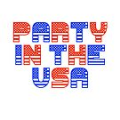 Fourth of July Gift - Party in the USA - Party Favor - Independence Day by LJCM