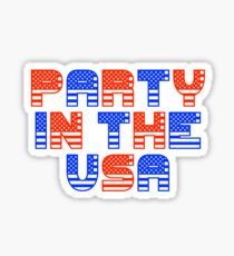 Fourth of July Gift - Party in the USA - Party Favor - Independence Day Sticker
