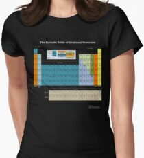 The Periodic Table Of Irrational Nonsense (Dark) Women's Fitted T-Shirt