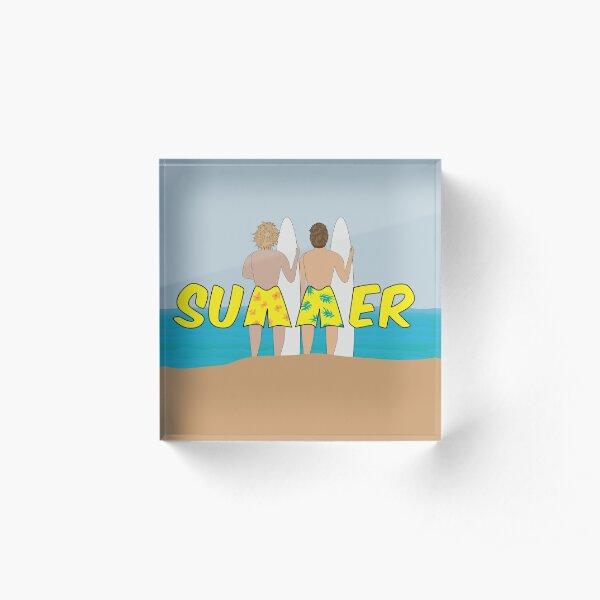 Summer Surfers Acrylic Block
