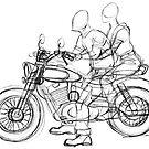 Greaser Biker sketch by OscarEA