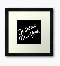 New York Themed Gifts - Je Taime New York - NYC Gift Bag Present  Framed Print