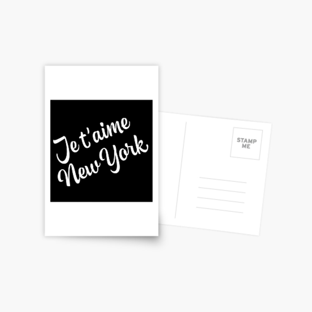 New York Themed Gifts - Je Taime New York - NYC Gift Bag Present  Postcard