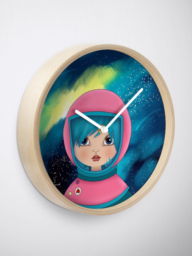 Alternate view of asteroidday - Space Girls Wear Pink Clock