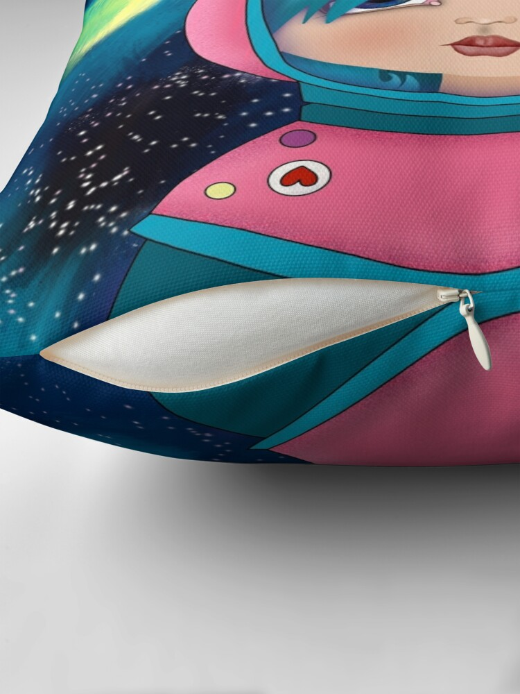 Alternate view of asteroidday - Space Girls Wear Pink Throw Pillow