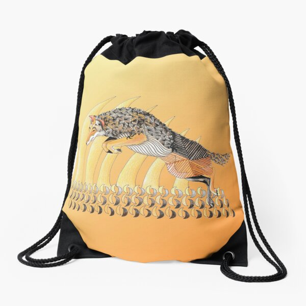 Coyote Totem Drawstring Bag