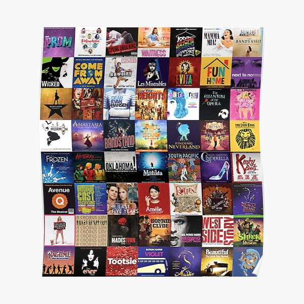 musicals collage Poster