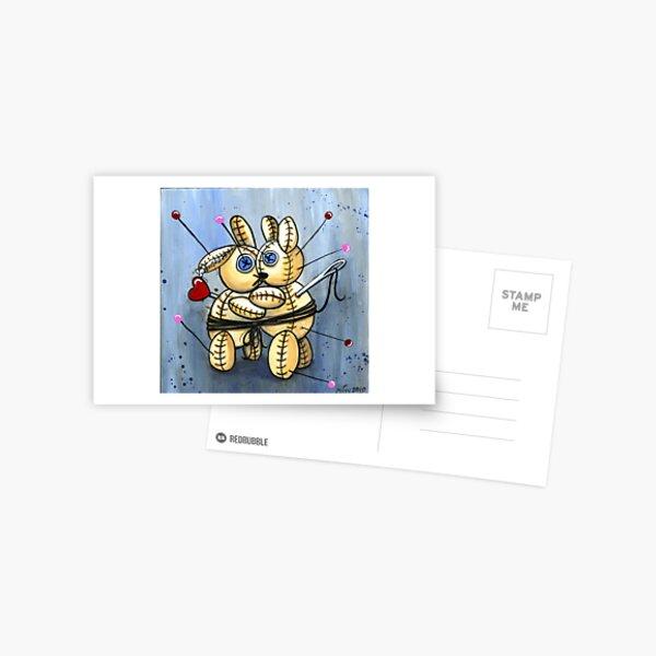 VooDoo Bunny Love Spell Postcard