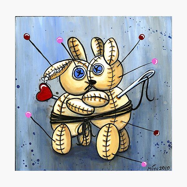 VooDoo Bunny Love Spell Photographic Print