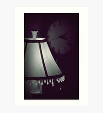 dimly lit time Art Print