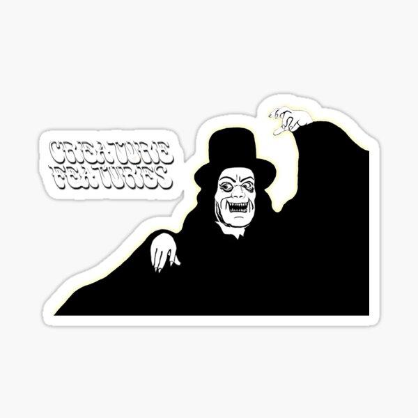 Retro Creature Features Horror Tribute Sticker