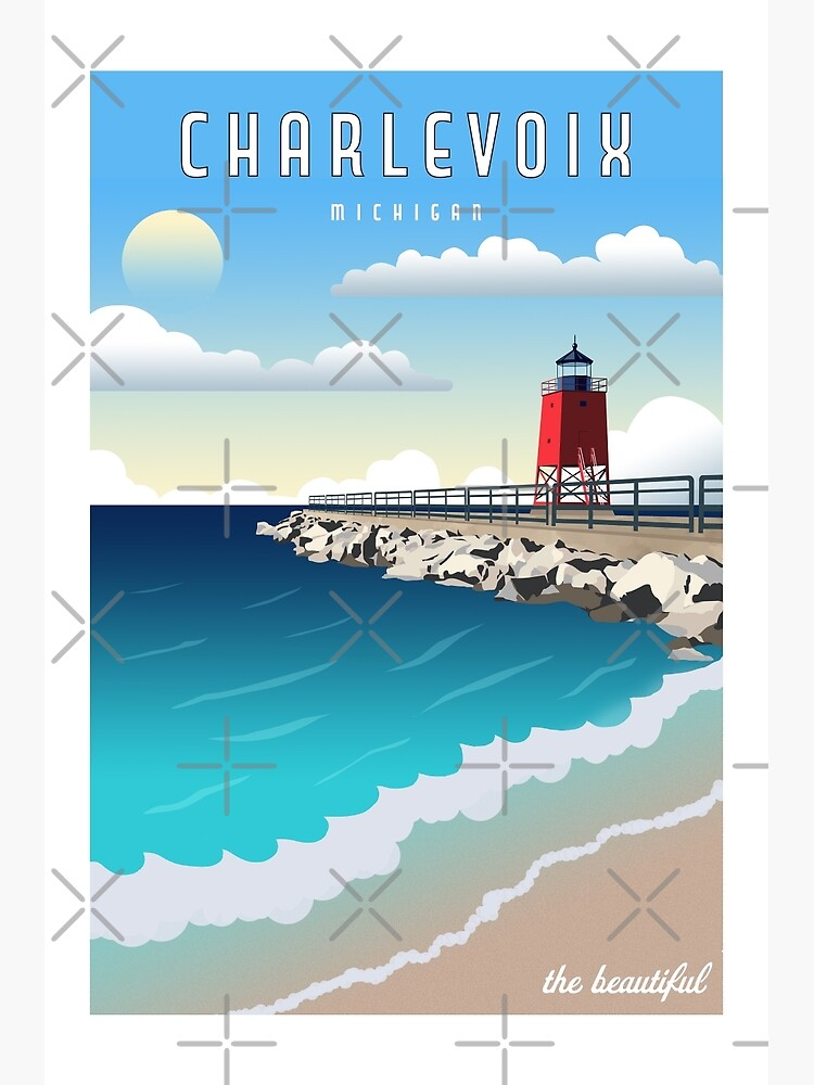 Charlevoix Michigan Vintage Travel  by NobleImages